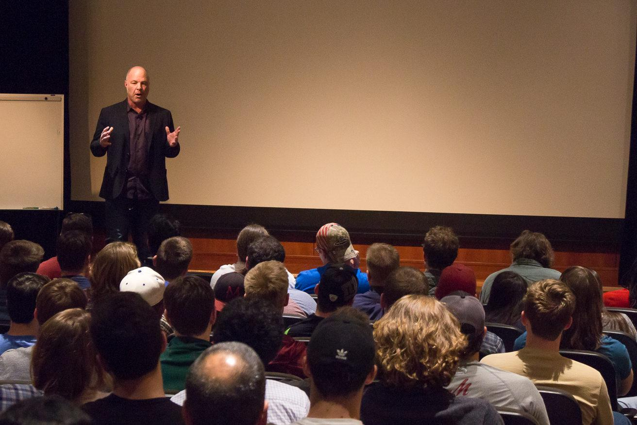 Jackson Katz spoke John B. Davis Lecture Hall on April 4th.