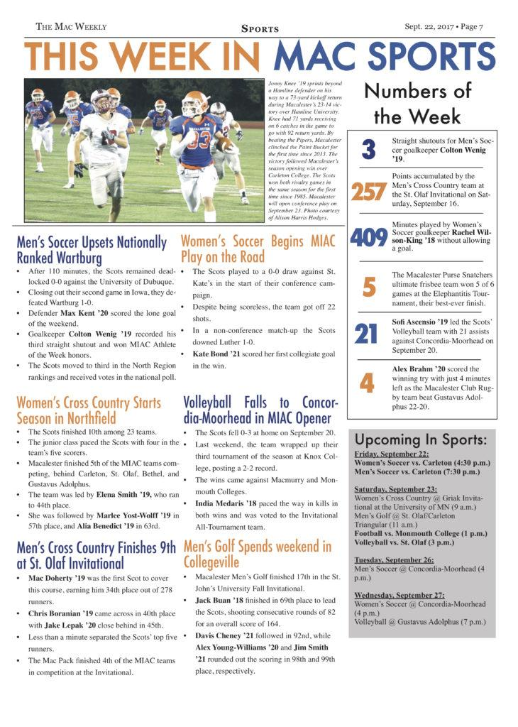 This Week in Mac Sports: 9/22