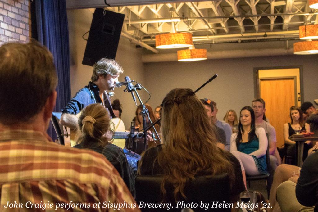Folk artist John Craigie performs at Sisyphus Brewing