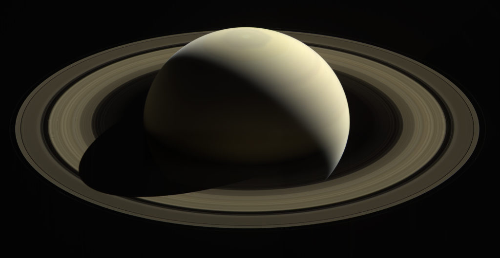 Picture of Saturn taken by Cassini. Photo attributed to NASA website.