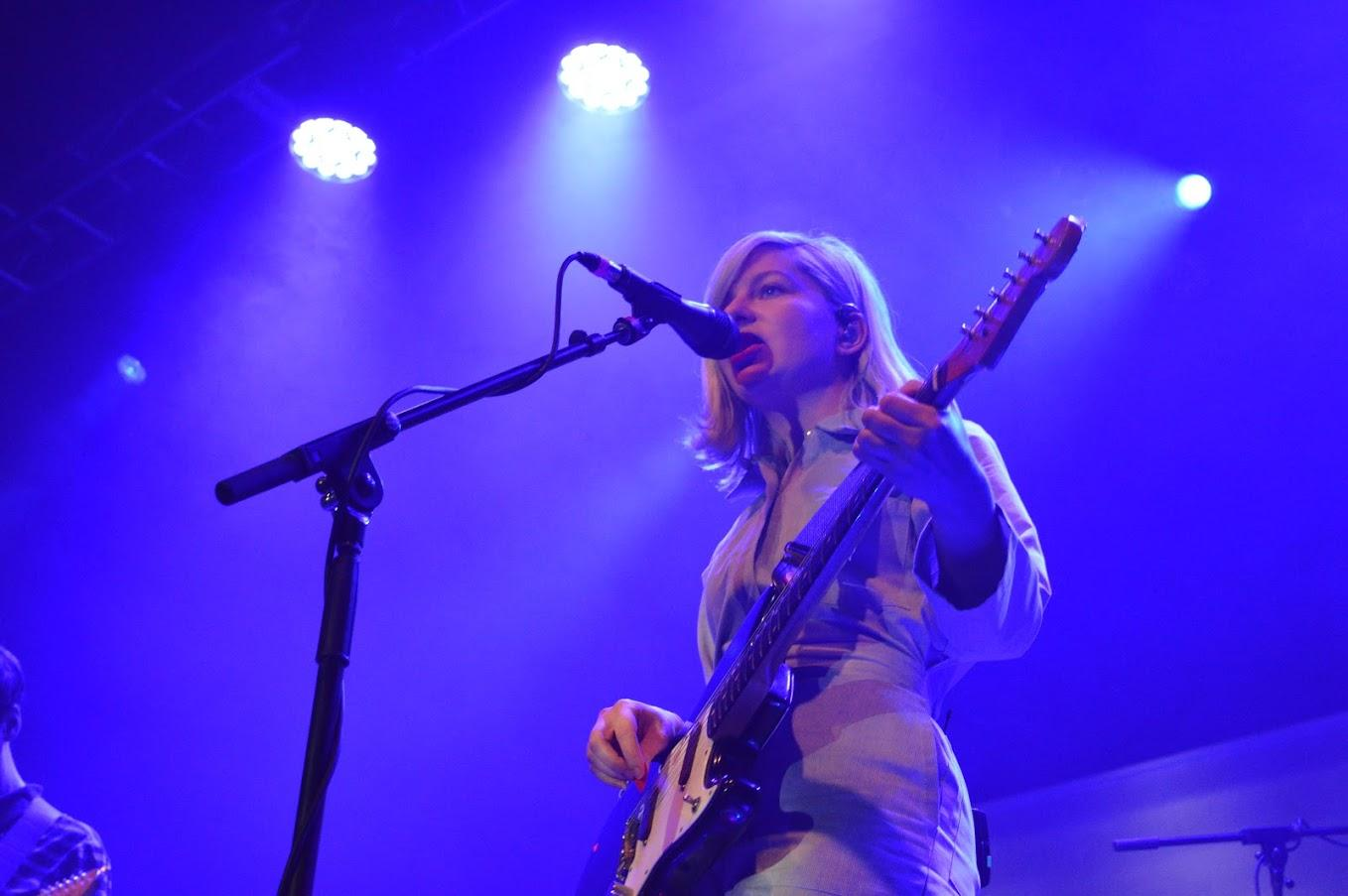 Melina Duterte, lead singer of Alvvays. Photo by Betsy Barthelemy '21.