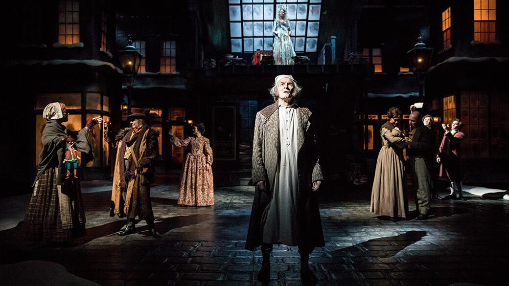 Nathaniel Fuller plays Scrooge in the Guthrie Theater's production of A Christmas Carol. Photo by Dan Norman.