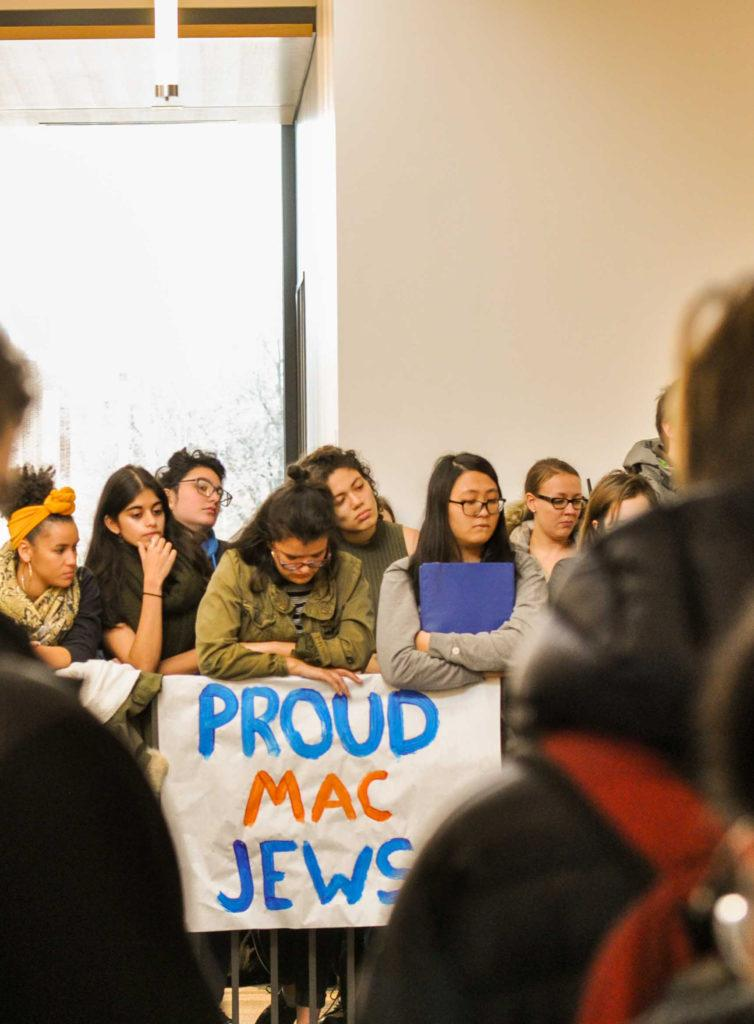 Macalester campus unites for  walk-in against hate