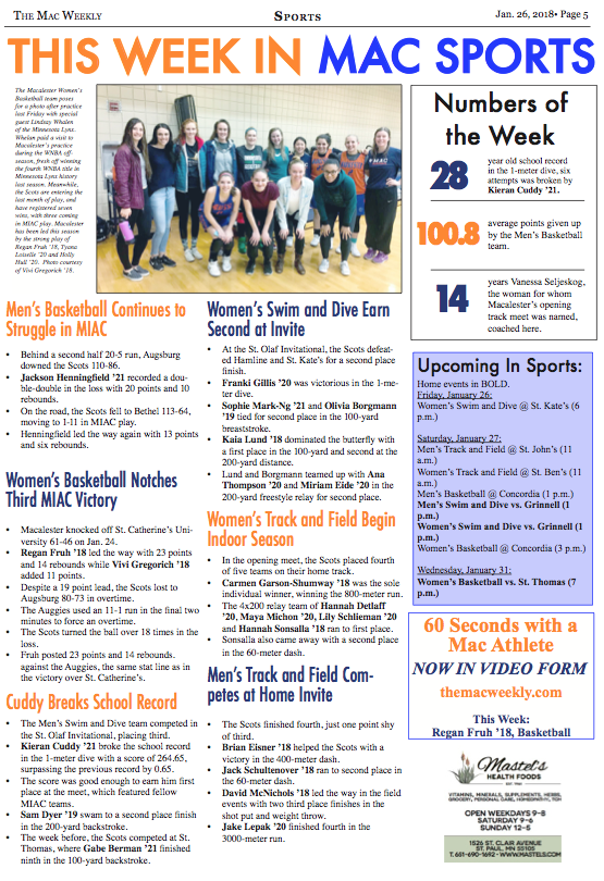 This Week in Mac Sports: 1/25