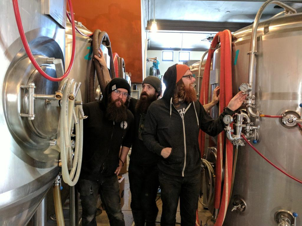 "Some of the ""Dangerous Men"", aka brewers. Photo by Henry Nieberg '19."