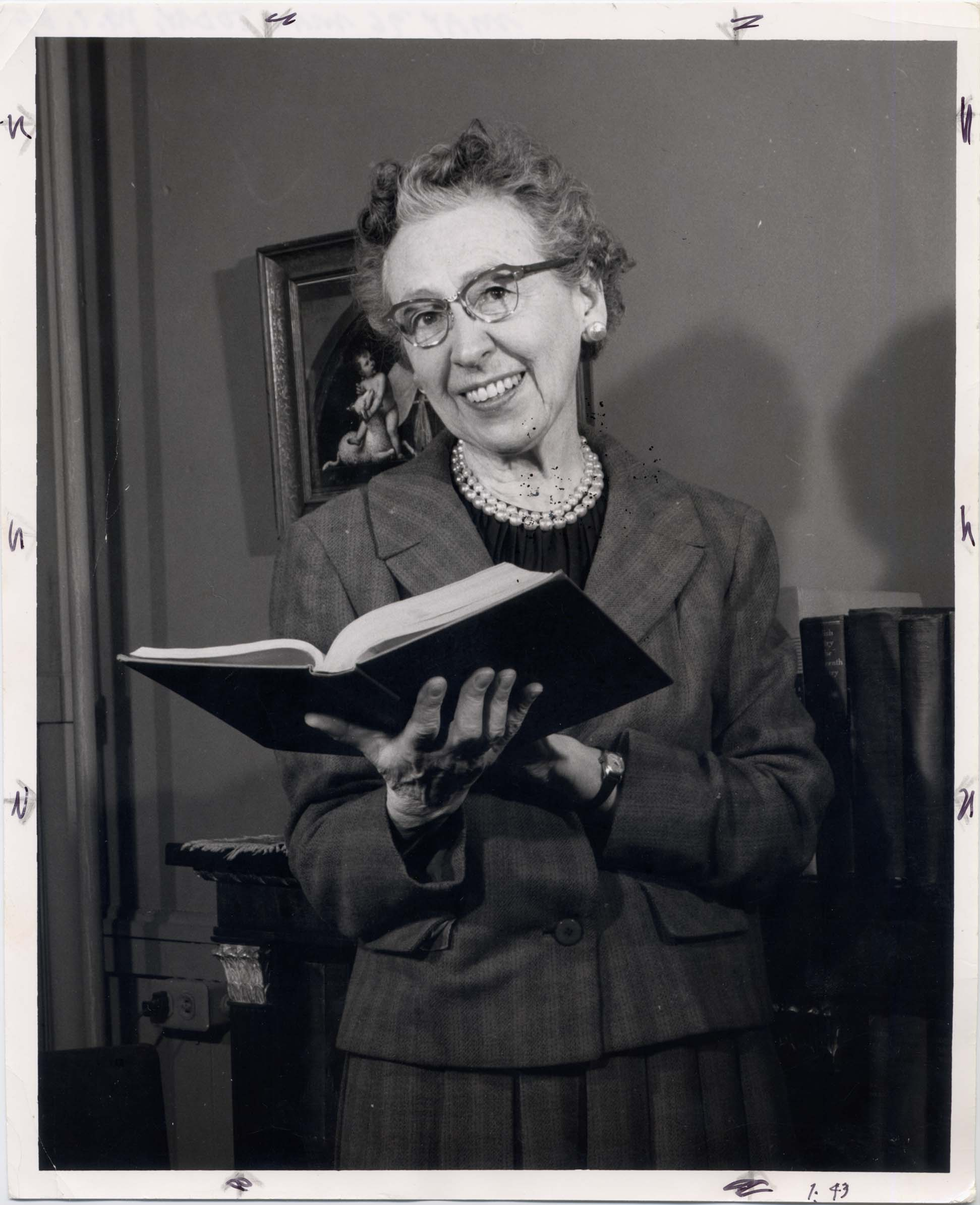 Margaret Doty. Photo courtesy of Macalester archives.