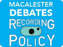 Macalester debates recording policy