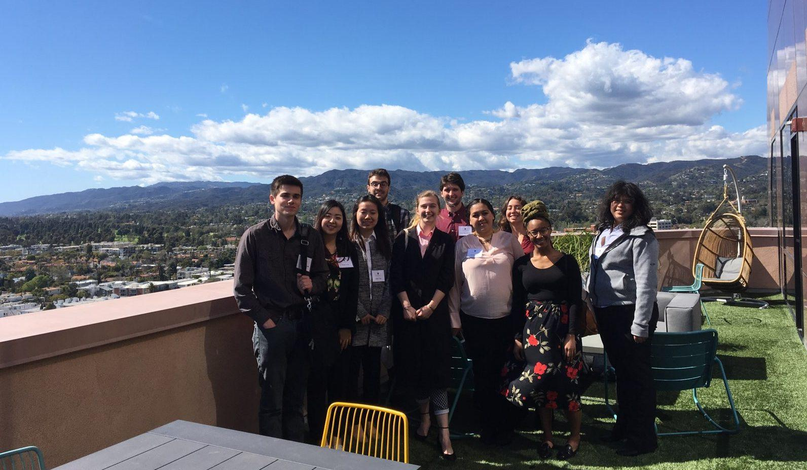 Students in the MacConnect Los Angeles program attend a networking event at People Magazine's West Coast headquarters. Photo courtesy of Associate Director of the CDC Kate Larson.