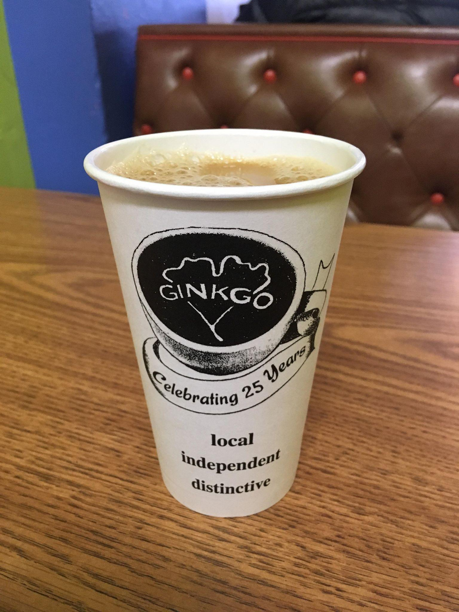 A cup of Ginkgo's coffee. Photo by Anna Hestad '19