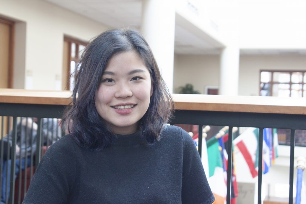 Annie Sumpunkulapak '19, who created Home magazine. Photo by Summer Xu '20.
