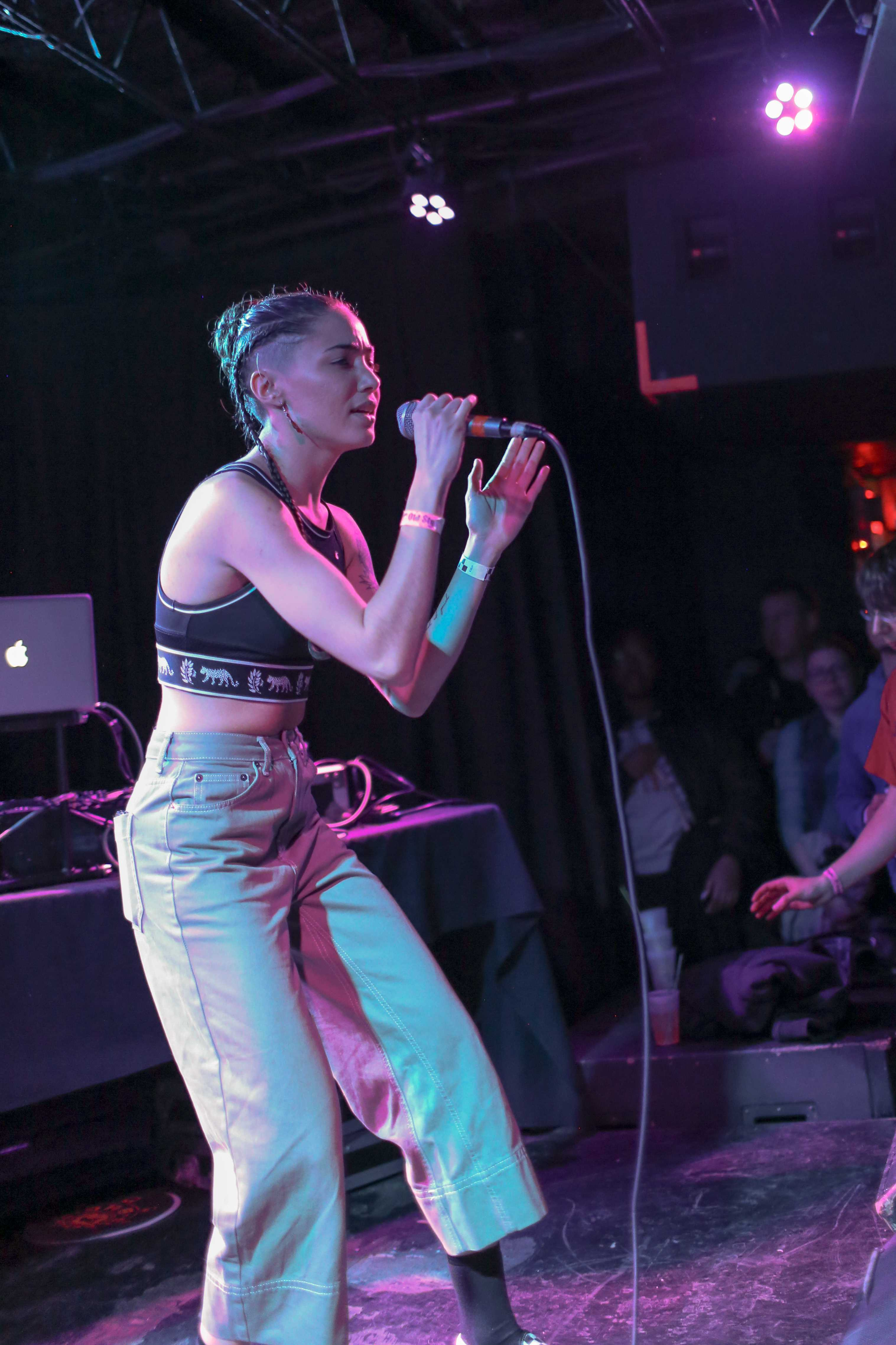 Ness Nite delivers a powerful performance for the crowd at 7th Street Entry. Photo courtesy of Lisa Persson.