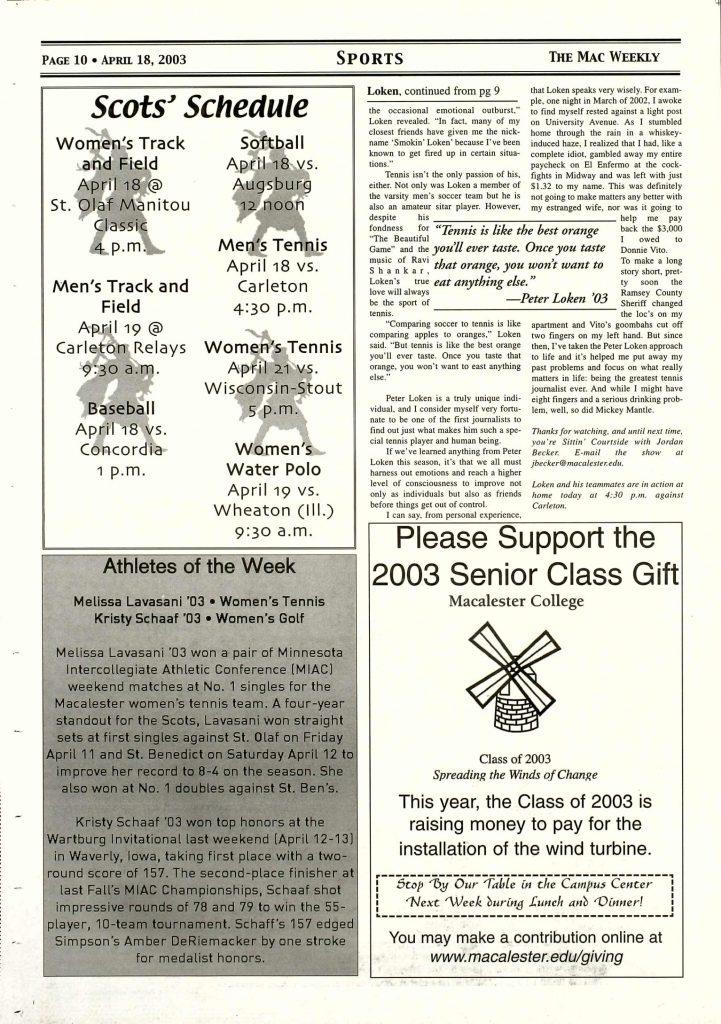 Ad+from+a+2003+Mac+Weekly+issue.+Photo+courtesy+of+Macalester+Archives.