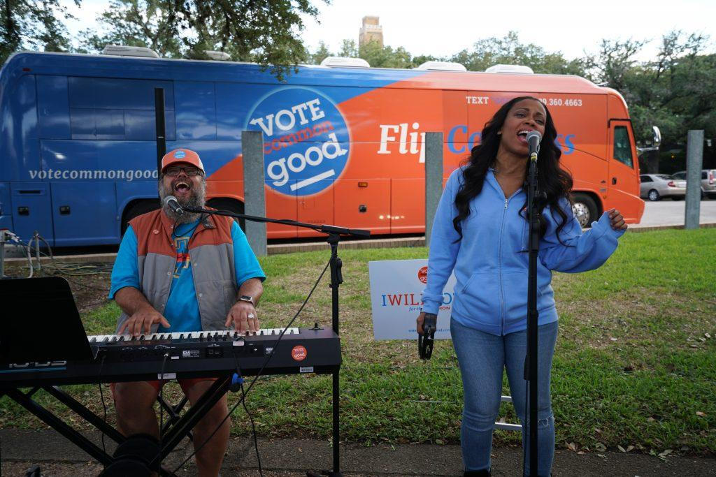 Musicians perform at a Vote Common Good rally. Photo courtesy of Vote Common Good.