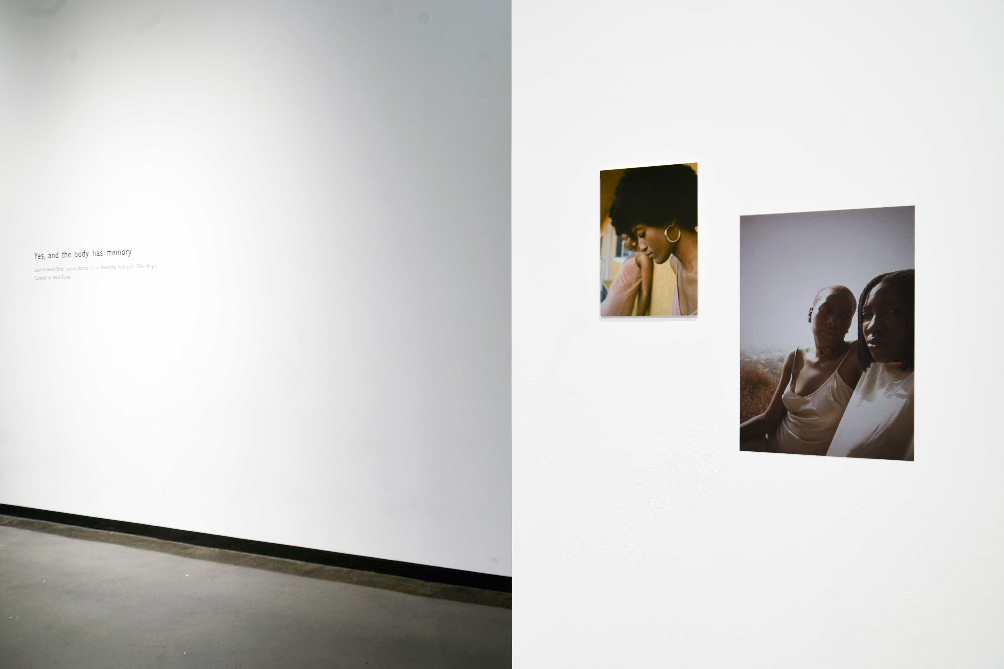 "The Law Warschaw Gallery exhibition ""Yes, and the body has memory…"" Photo by Mara Duvra."