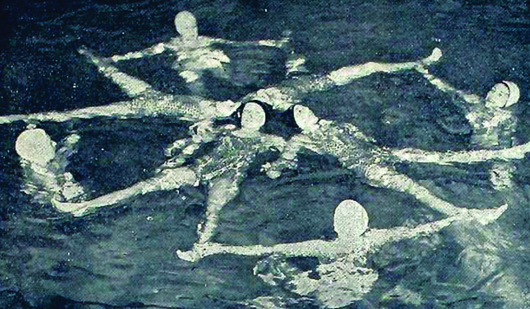 Mac Mermaids practice in 1938. Photo courtesy of the Macalester archives.