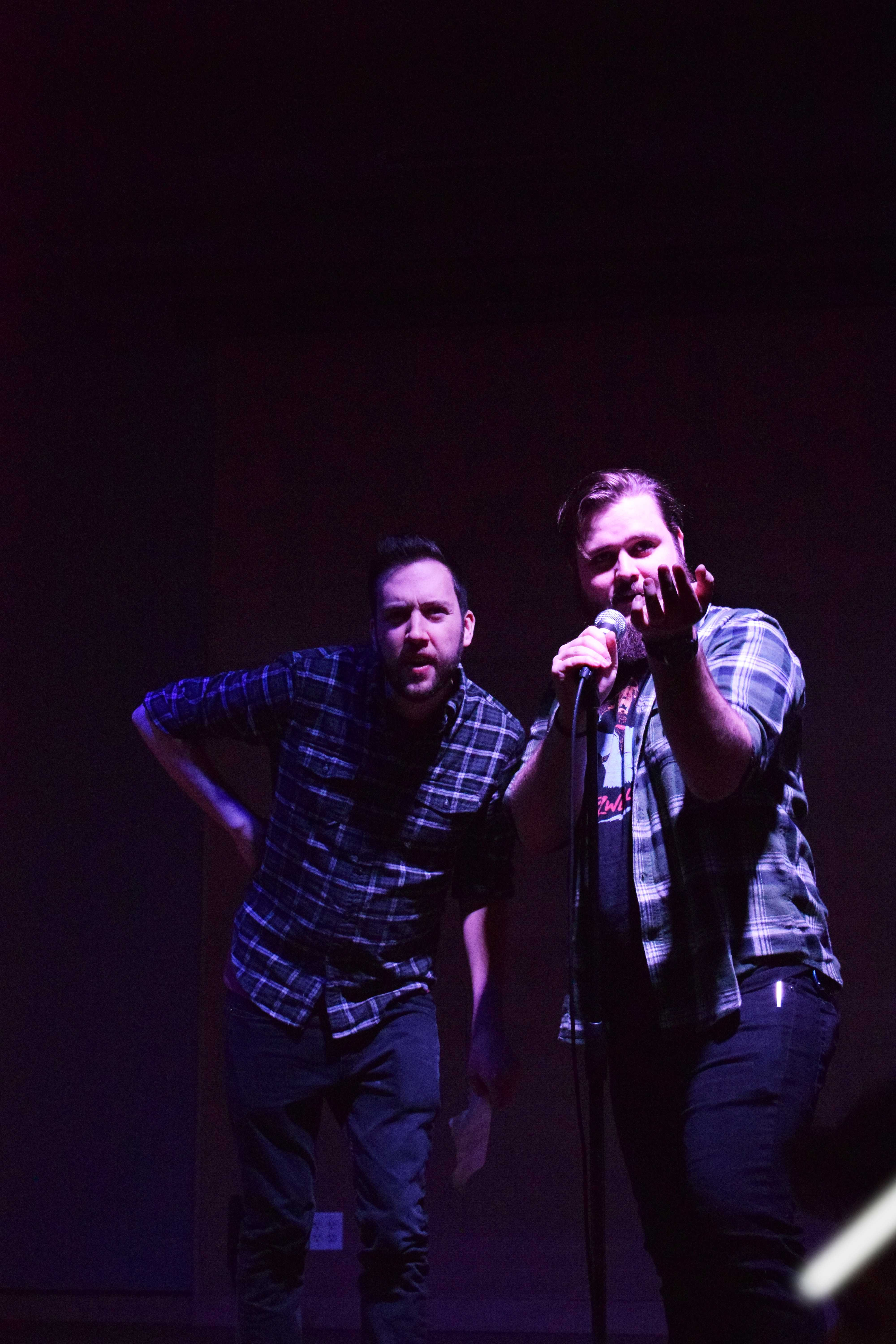 Dylan Garity '12 (left) and Neil Hilborn '11 (right). Photo courtesy of Anja Beth Swoap '19