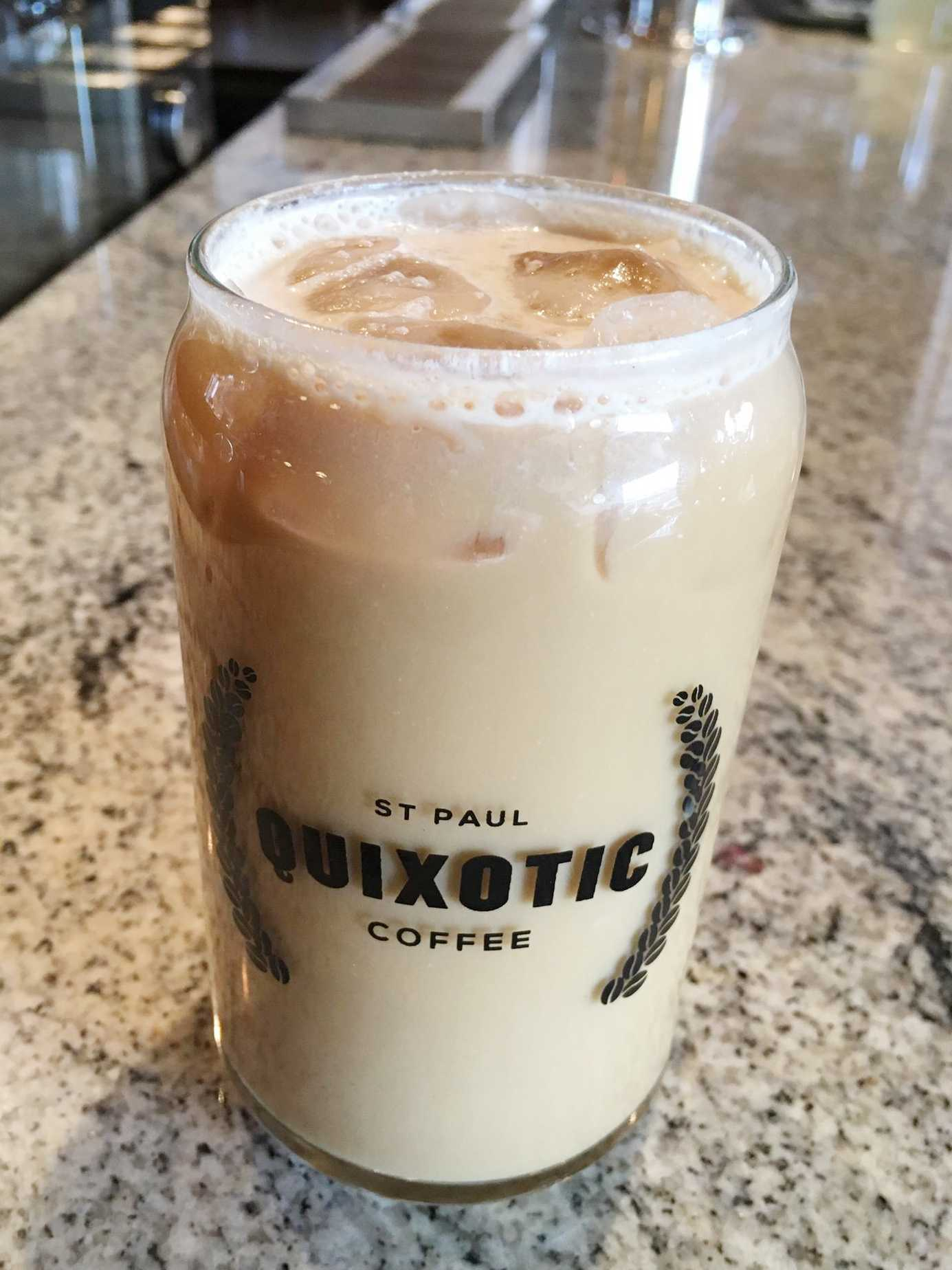 An icy caramel drink from Quixotic Coffee in St. Paul. Photo by Anna Hestad '19