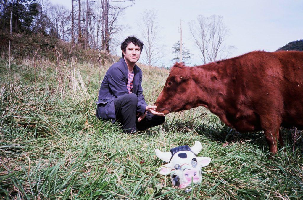 Avey Tare (David Portner) with cattle. Photos courtesy of Motormouthmedia.