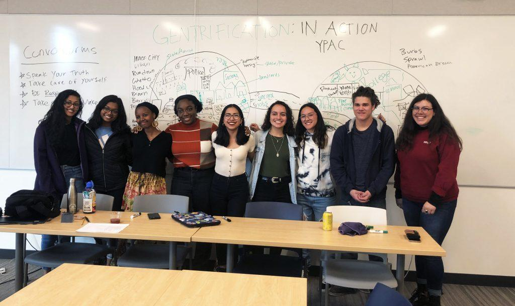 Gabi Estrada '21 and the YPAC students at Thursday's Mac-YPAC discussion. Photo by Margaret Moran '21.