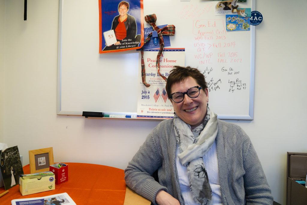 Jane Niemi in her office. Photo by Summer Xu '20.