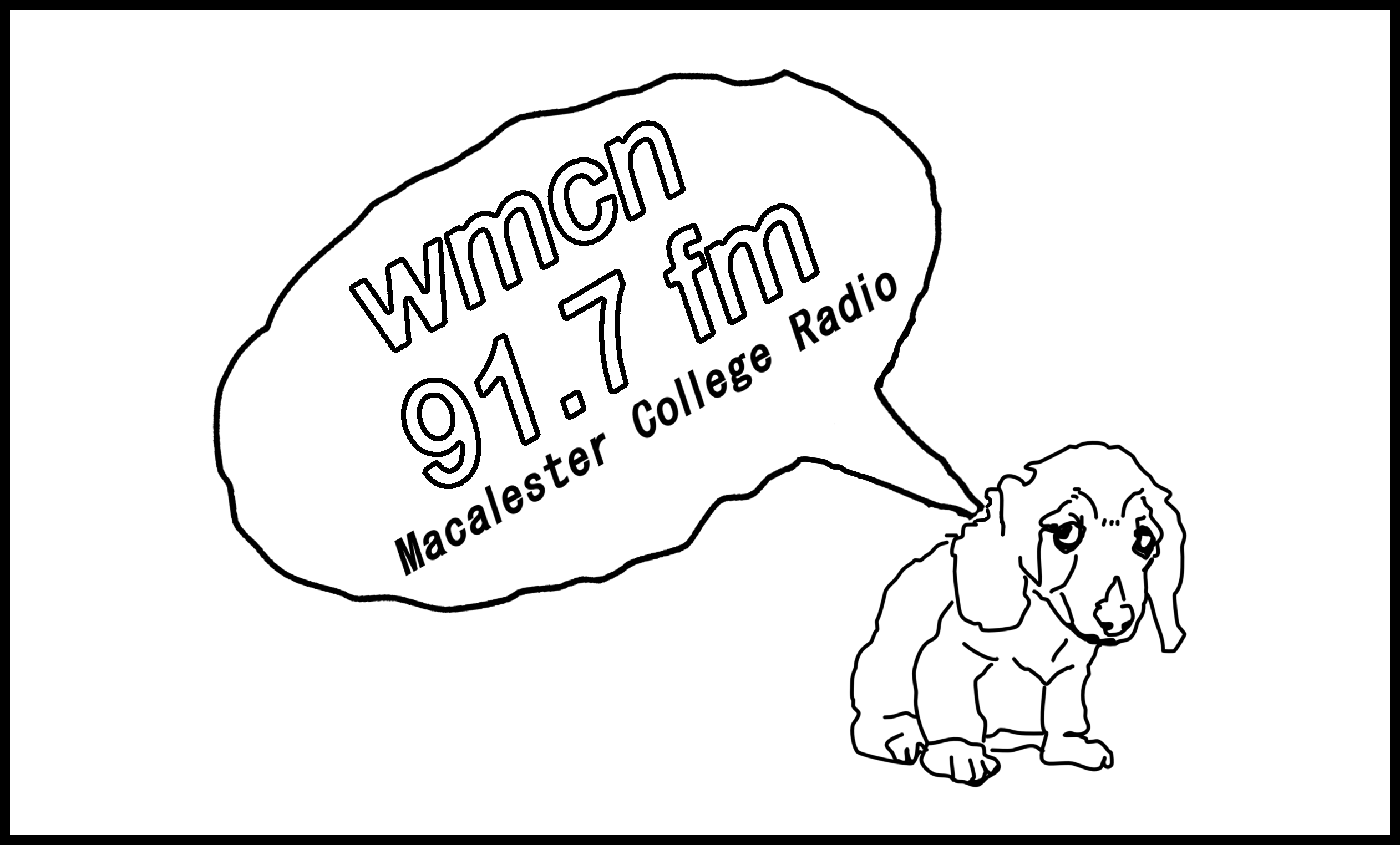 Garth the dog, the WMCN mascot. Graphic courtesy of Lily Hannaher '19.