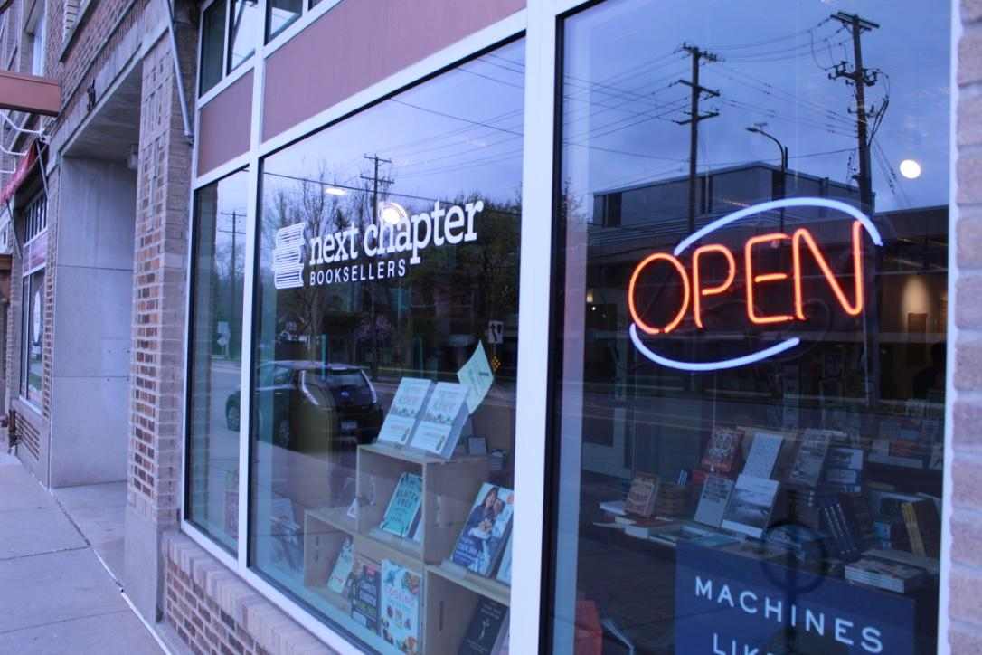 The storefront of the newly renamed Next Chapter Books. Photo by Rebecca Edwards '21.