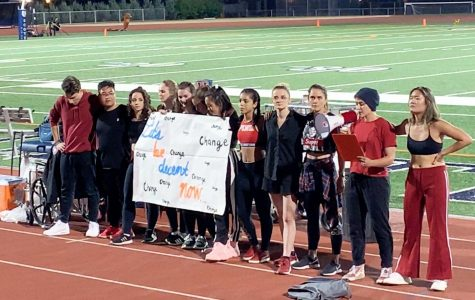 13th Street dance crew protests at Macalester football game. Video screencapped courtesey of Bonnie Hoekstra '21.