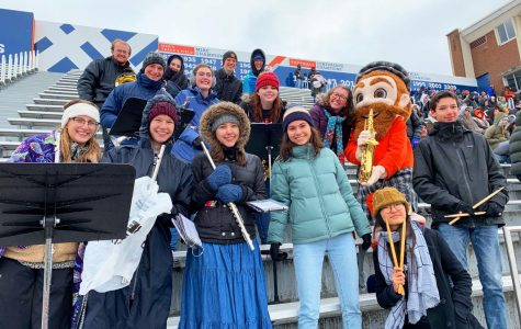 Macalester Pep Band brings spirit to athletes and students