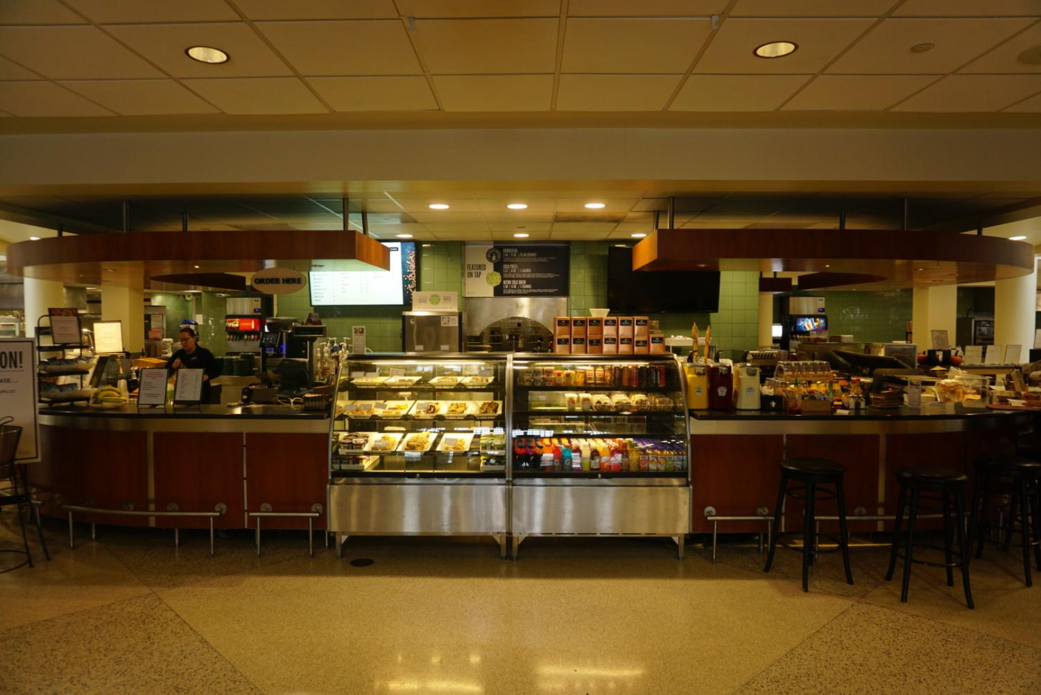 The Grille, located in the Campus Center, where the menu changes took place after fall break. Photo by Smith Mayse '22.