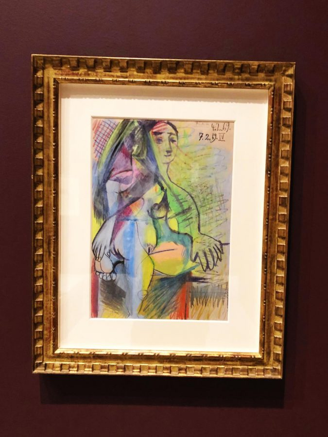 """Nu Couché"" by Pablo Picasso. Photo by Adrian Johnson '21."