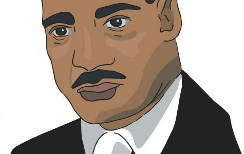 Rev. Dr.Martin Luther King Jr. Graphic by Rebecca Edwards '21.