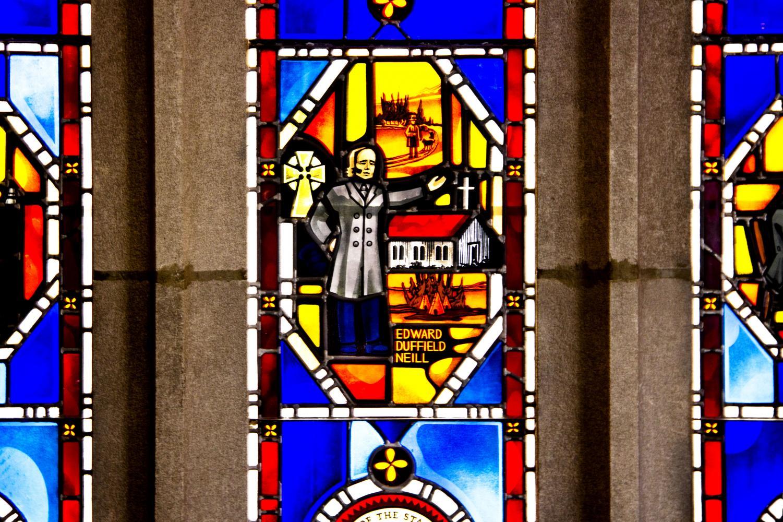 The Edward Duffield Neill Window at The House of Hope Presbyterian Church. Photo by Celia Johnson '22.
