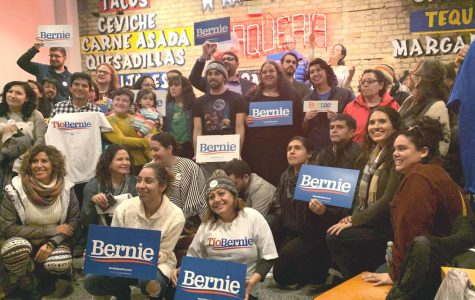 Supporters gathered at MN Latinxs por Tío Bernie event. Photo by Mary McDonnell '23.