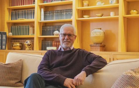 Brian Rosenberg in his office. Photo by Shosuke Numa '23.