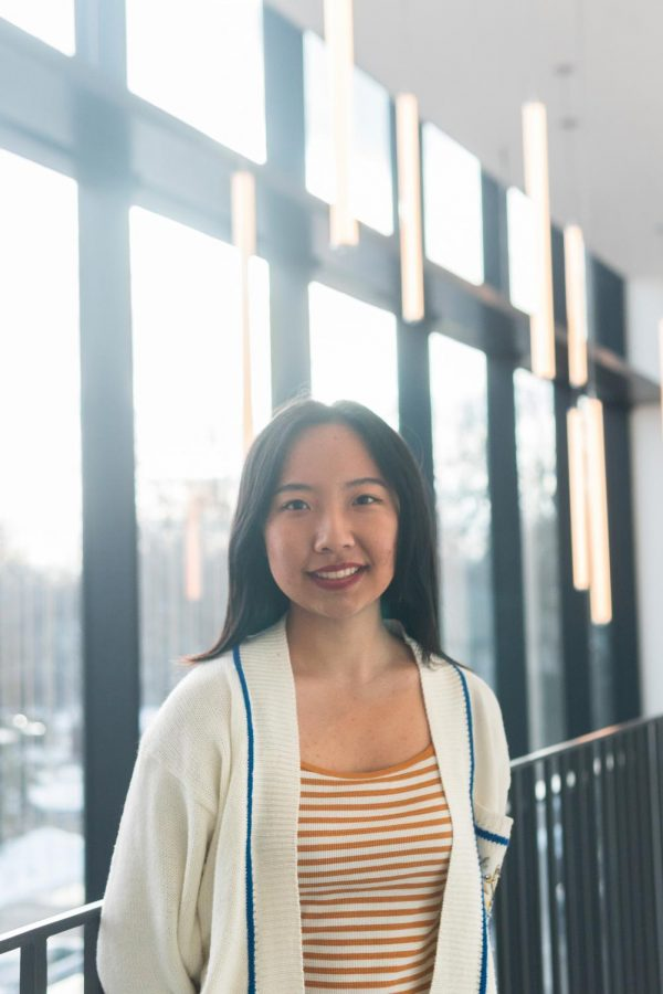 Portrait of Jennifer Yang '22, a Macalester student from Wuhan, China. Photo by Long Nguyen '21.