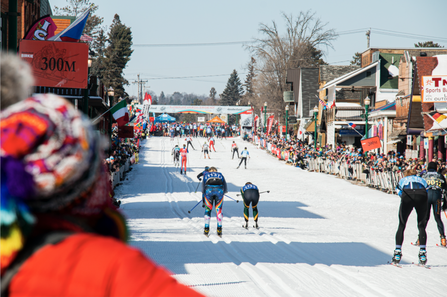 The finish line of the Birkebeiner in Hayward, Wisconsin. Photo by Celia Johnson '22.