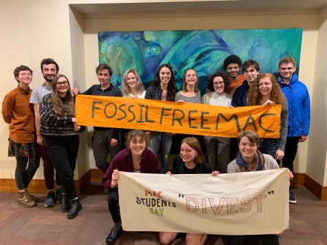Fossil Free Mac poses for a photo. Photo courtesy of Emma Harrison.