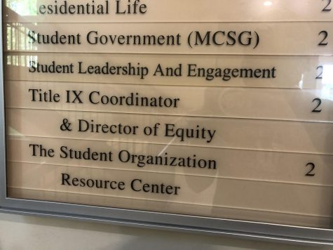 Signage for the office of the Title IX Coordinator. Photo by Lily Denehy