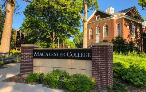 The entrance to Macalester. Photo by Abe Asher '20.