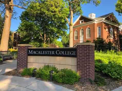 The entrance to Macalester. Photo by Abe Asher