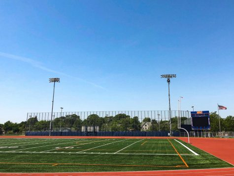 The football field at Macalester. Photo by Lily Denehy