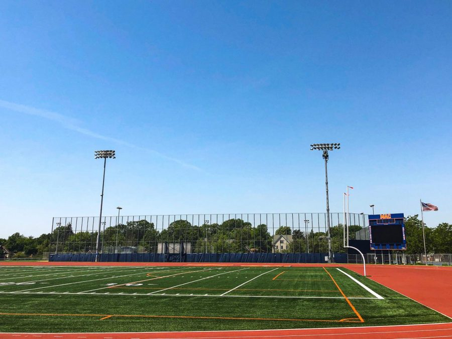 The football field at Macalester. Photo by Lily Denehy '22.