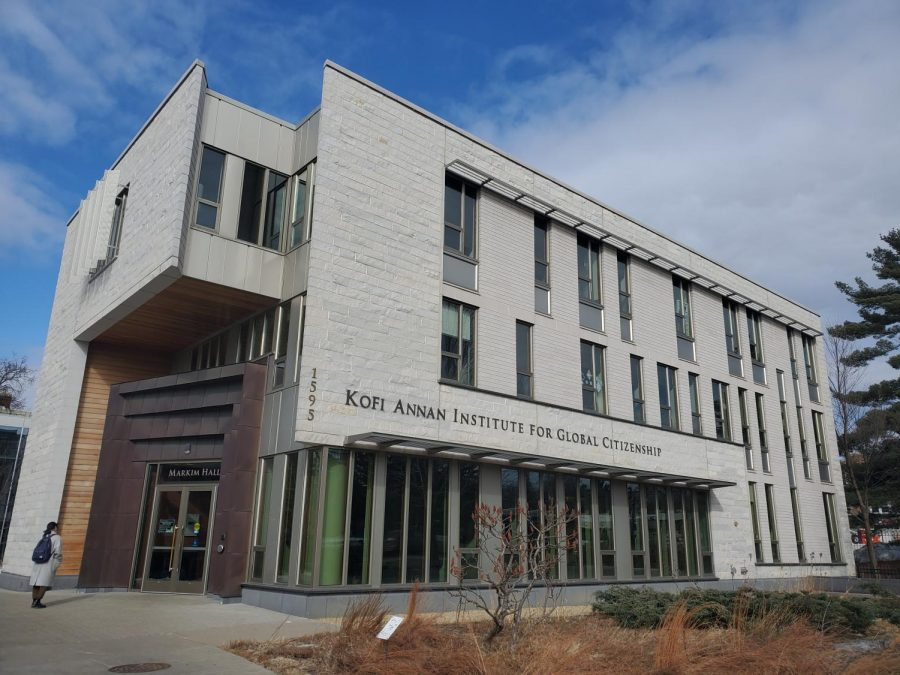 The Kofi Annan Institute for Global Citizenship. Photo by Kori Suzuki '21.