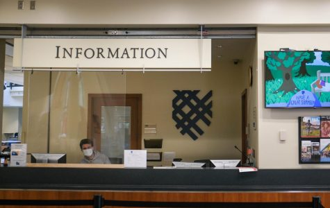 The info desk at the Campus Center. Photo by Malcolm Cooke '21.