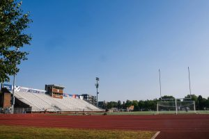 The football field at Macalester. Photo by Malcolm Cooke '21.