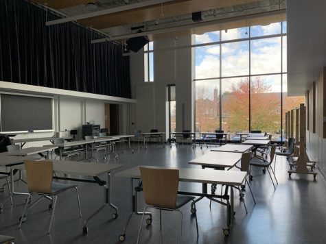 Socially-distanced classroom. Photo by Betsy Barthelemy '21