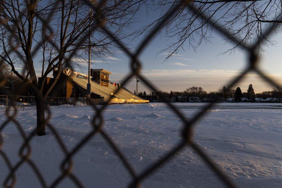 Snowy+campus.+Photo+by+Celia+Johnson+%2722.+