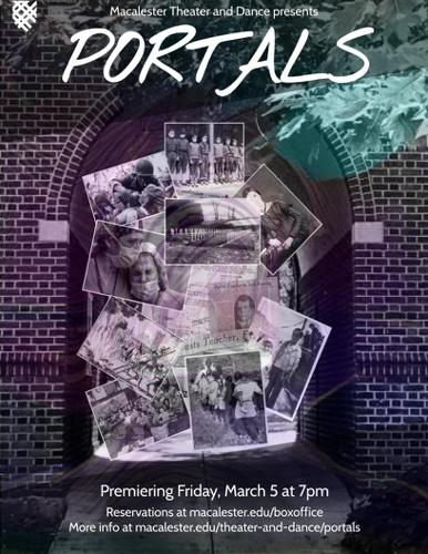 Portals promotional poster. Photo courtesy of the Mac Threater and Dance Department.