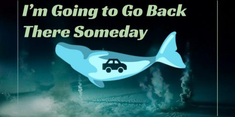 "Promotional poster for ""I'm Going to Go Back There Someday."" Art by Angus Fraser '22."